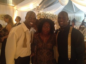 McCourty Twins with Aunt Winnie